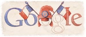 Doodle du 14 juillet 2010 sur Google France
