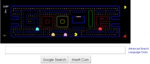 Jeu PacMan sur la page d'accueil de Google