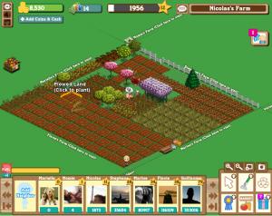Capture d'écran d'un jeu de gestion de ferme: farmville