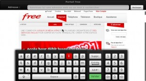 internet et clavier virtuel via le freebox player