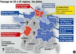 Pistes pour la réduction du nombre de régions françaises