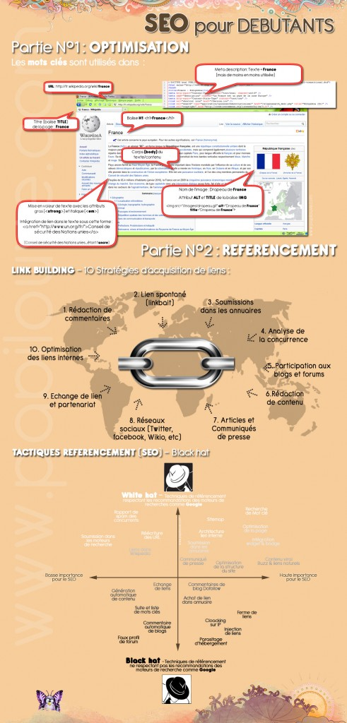 Infographie référencement débutants