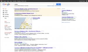 Recherche du mot-clé Soulac sur le moteur de recherche Google